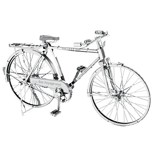 Fascinations Metal Earth ICONX 3D Laser Cut Model Kit Classic Bon Voyage Bicycle - Laser Cut Models