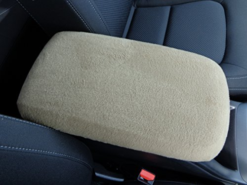 Car Console Covers Plus Fits Lincoln Mark LT Truck 2006-2012 Fleece Center Armrest Cover for Center Console Lid Made in USA Light Tan