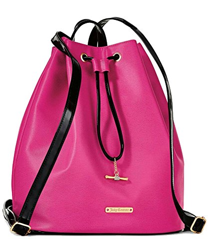 juicy-couture-pink-and-black-pvc-backpack-tote-travel-bag