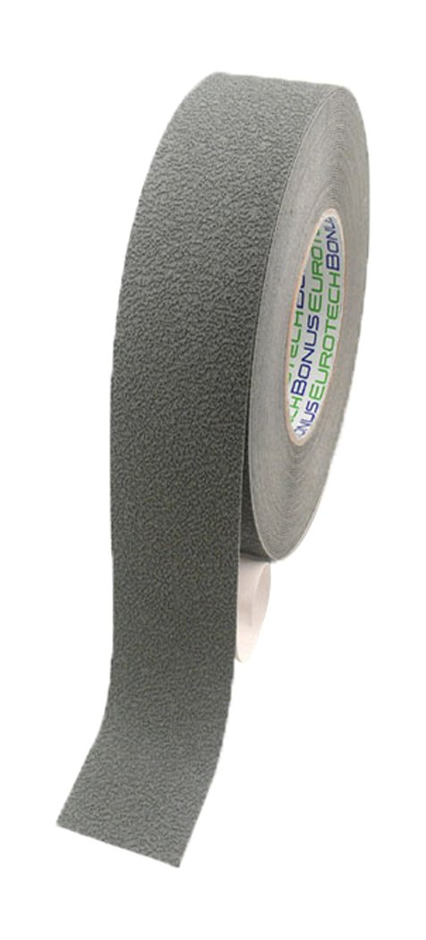BONUS Eurotech 1BL43.92.0025/018 Anti Slip Tape, Acrylic Based Adhesive, Width 25 mm, Length 18 m, Thickness 0.70 mm, Grey