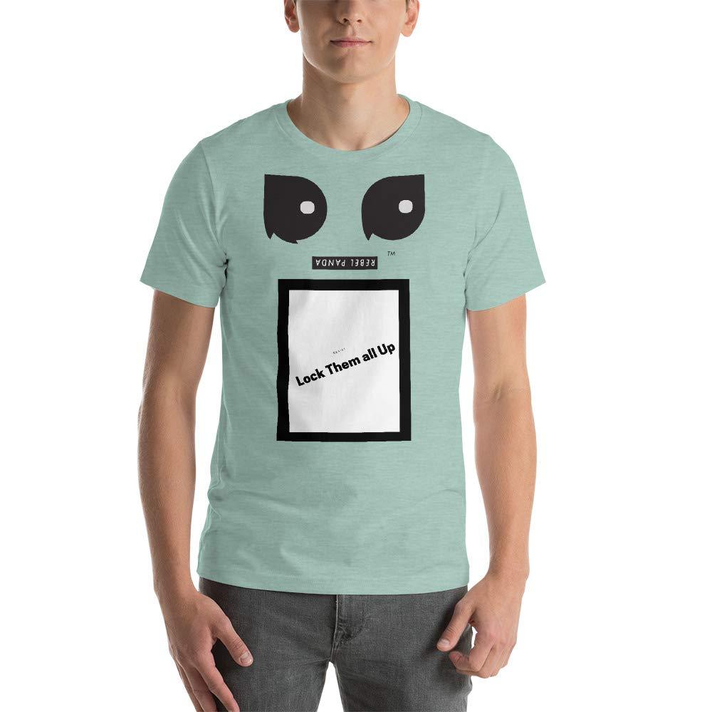 REBEL PANDA Lock Them All UP Premium Short-Sleeve Unisex T-Shirt