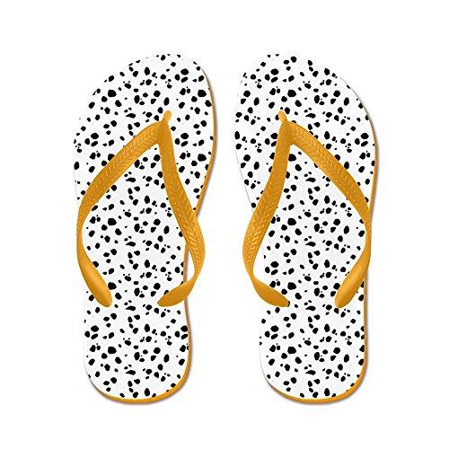 CafePress Dalmation Spot - Flip Flops, Funny Thong Sandals, Beach Sandals Orange
