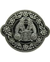 Boucle de ceinture Celtic Animals Floral, en un de mes présentation en coffrets. (Noir)