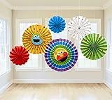 Sesame Street 1st Birthday - Paper Fan Decoration