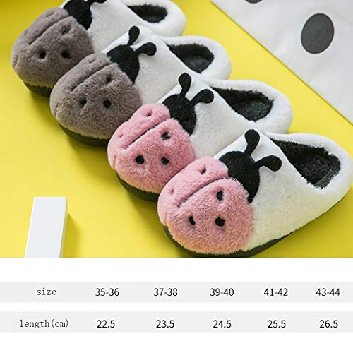 Bottom Autumn Indoor Warm Pink Cotton Aminshap Couple Home Plush Slippers Soft Package Female Winter With xn71wT8v