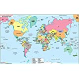 Amazon world map of spanish speaking countries wall maps world map with countries in spanish laminated 36 w x 2273 h gumiabroncs Gallery