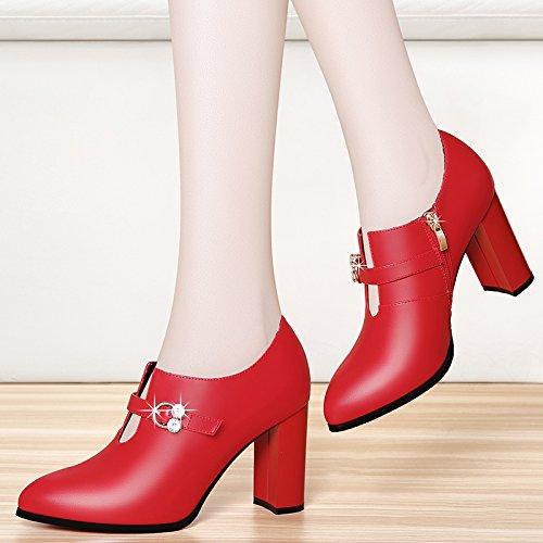 match pelle all molla nbsp;cm con gules KPHY alti in scarpe scarpe autunno 8 spessore tacchi nuovo con scarpe singolo donna vpq6PB
