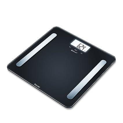 Beurer BF 600 Báscula digital de diagnóstica con IMC y función Bluetooth, de vidrio,