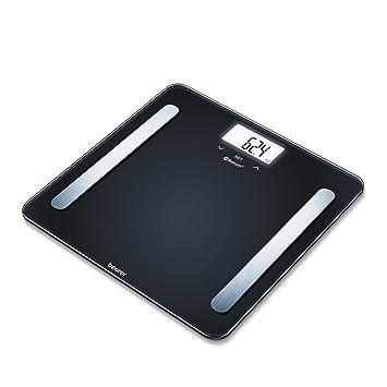 Beurer BF600 - Báscula digital diagnóstica con IMC y función Bluetooth, de vidrio, con