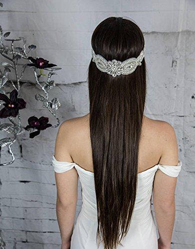 Bridal Forehead Band, Wedding Pearl Headpiece, Boho Hair Jewelry, Chain Halo, Women's Hair Accessories, Vintage Hair Piece
