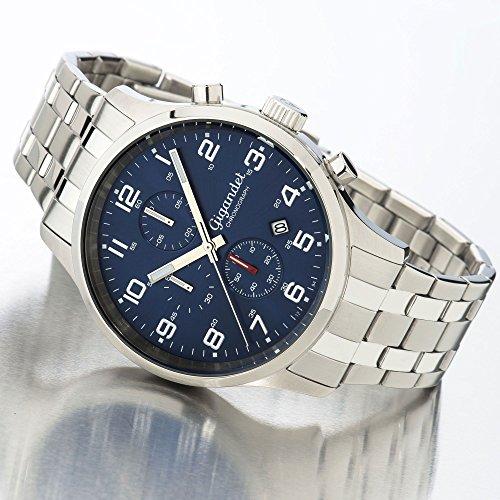 Gigandet herr klocka kronograf kvarts med rostfritt stål armband G51-005