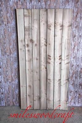 Puerta de madera para jardín sanilo tablero a medida puertas Bespoke: Amazon.es: Jardín