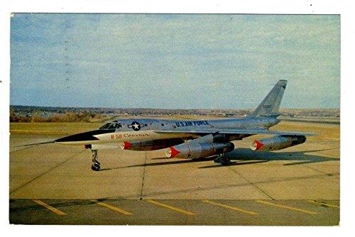 B-58 Hustler Postcard Fort Worth Texas 1957 First Supersonic Bomber