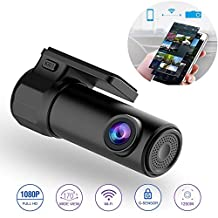 WiFi Dash Cam Mini Dashboard Camera Recorder Car DVR 170 Degree Wide Angle 360° Rotation Mini Vehicle Video Recorder WiFi Dash Cam APP Monitor Night Vision