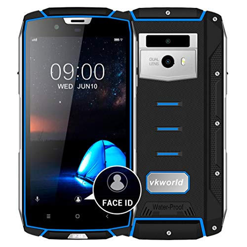 Price comparison product image Liu Nian 5.2 inch 16MP Dual Camera IP68 Waterproof Smartphone Android 4GB RAM 64GB ROM WIFI Octa Core Fast Charge 5V/2A Android 8.0 3G Call Unlocked Mobile Phone (Blue)