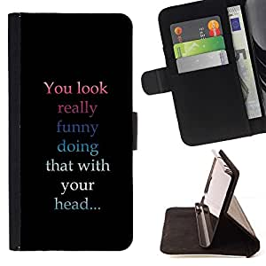 DEVIL CASE - FOR LG G3 - You Look Funny - Style PU Leather Case Wallet Flip Stand Flap Closure Cover