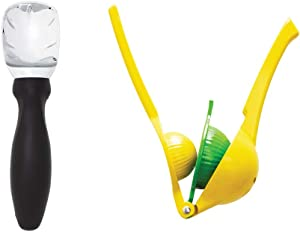Gorilla Grip Ice Cream Scoop and Citrus Squeezer, Manual Hand Juicer Good for Limes, Lemons, and Fruit, Both Dishwasher Safe, 2 Item Bundle