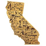 Celebrate life in The Golden State with the Totally Bamboo California State Destination Bamboo Cutting and Serving Board. This beautifully crafted board is shaped in the outline of the great state of California and features fun, laser-engraved call o...