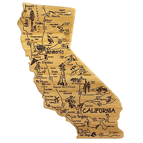 Totally Bamboo California State Destination Bamboo Serving and Cutting Board