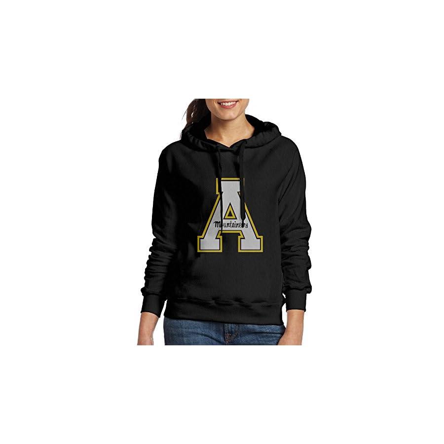 EVALY Women's Cool Appalachian State University Hooded Sweatshirt Black