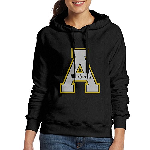 EVALY Women's Cool Appalachian State University Hooded Sweatshirt Black