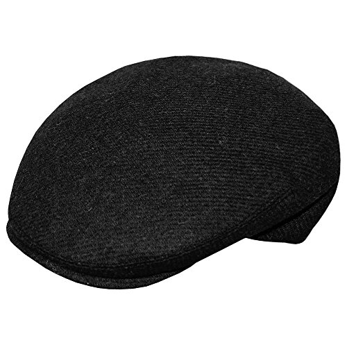 Jonathan Richard County Curved Wool Ivy Cap-Black-L