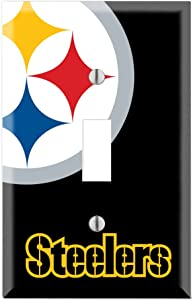 Single Toggle Wall Switch Cover Plate Decor Wallplate - Steelers