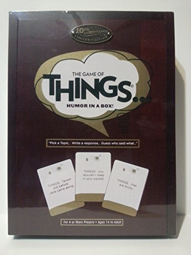 The Game of Things.. Humor in a Box! 10th Anniversary Limited Edition Wood Book Collection (In Box A Game Things)