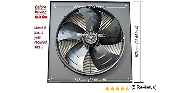 Extractor industrial comercial, ventilador de escape, 450 mm/18 ...