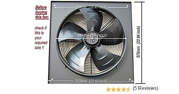 Extractor industrial comercial, ventilador de escape, 450 mm/18 ...