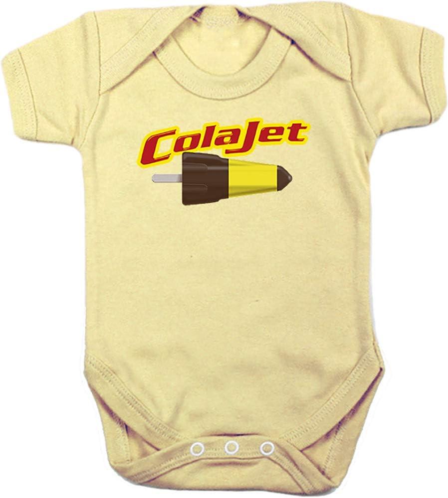 Camisetas EGB Body Bebé ColaJet ochenteras 80´s Retro (3 Meses, Amarillo): Amazon.es: Ropa y accesorios