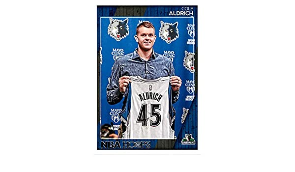 a924d75de24 Amazon.com  2016-17 Panini NBA Hoops Basketball  180 Cole Aldrich  Timberwolves  Collectibles   Fine Art