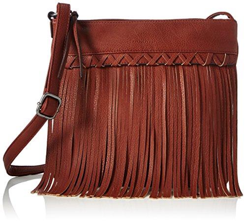 Tamaris SVEA Crossbody Bag 1030161 Damen Umhängetaschen 28x26x2 cm (B x H x T), Braun (cognac 305)