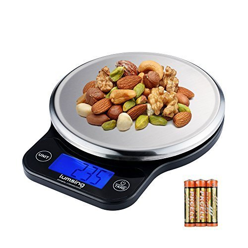 Lumsing Digital Kitchen Scale, Multifunction Stainless Steel Food Scale with LCD Display 13.2 lb 6kg 1g 0.01oz, Batteries Included (Best Rated Weed Strains)
