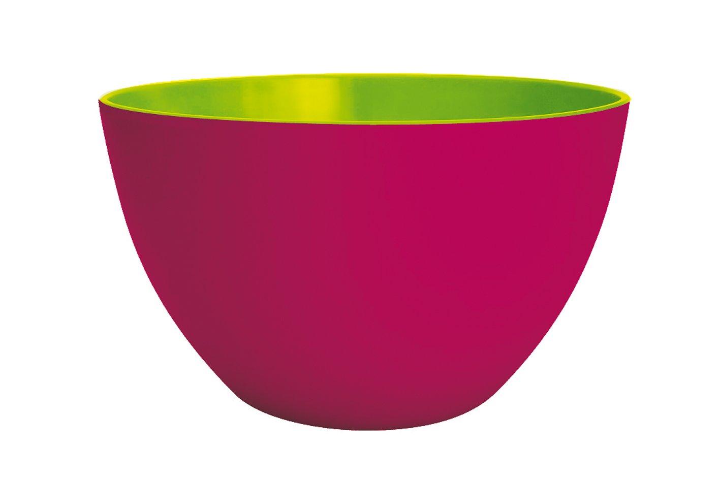 Designs 1701-1890 Duo Zak color rosa y verde 22 cm Ensaladera