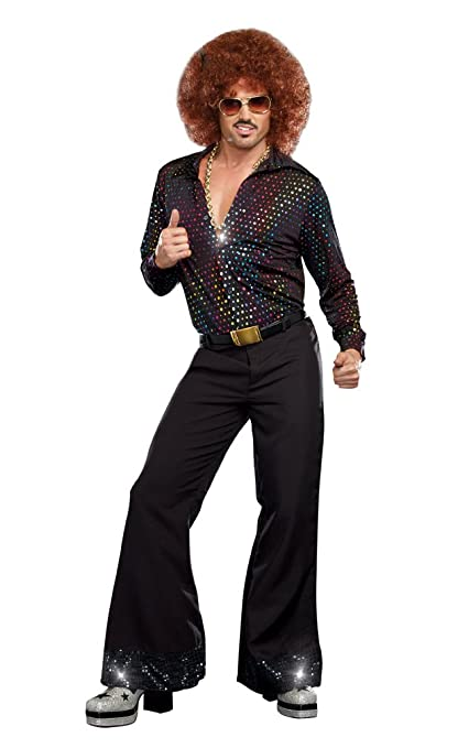 60s -70s  Men's Costumes : Hippie, Disco, Beatles Dreamgirl Mens Disco Dude Costume $54.37 AT vintagedancer.com