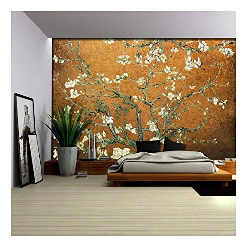 Copper Almond Blossom by Vincent Van Gogh Wall Mural