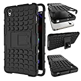 MOONCASE OnePlus X Case Detachable 2 in 1 Hybrid Armor Design Shockproof Tough Rugged Dual-Layer Case Cover with Built-in Kickstand for OnePlus X Black