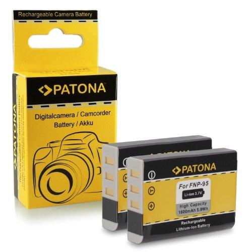 2x Battery NP-95 NP95 for Fujifilm FinePix F30   F31fd   Real 3D W1   X100   Fujifilm X-S1   X30   X100S   X100T