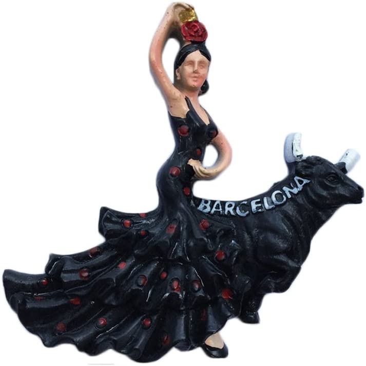 MUYU Magnet 3D Flamenco Dancer España Nevera Imán de Viaje Pegatina Recuerdo, hogar y Cocina Decoración, España Nevera Imán: Amazon.es: Hogar
