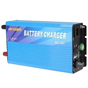 Cargador de batería 48V 10A: Amazon.es: Bricolaje y herramientas