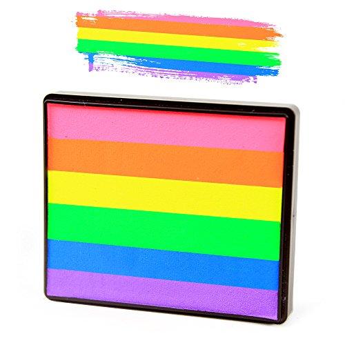 Silly Farm Face Painting Neon Rainbow Cake ()