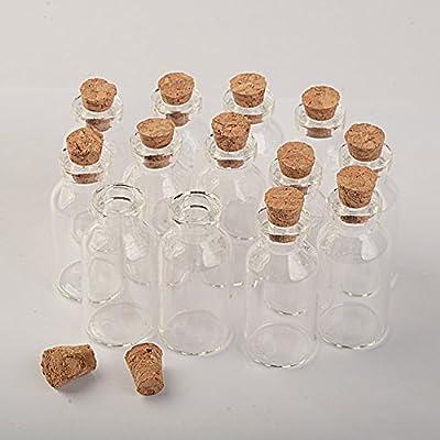 Botella de cristal transparente con tapón de corcho, forma de ...