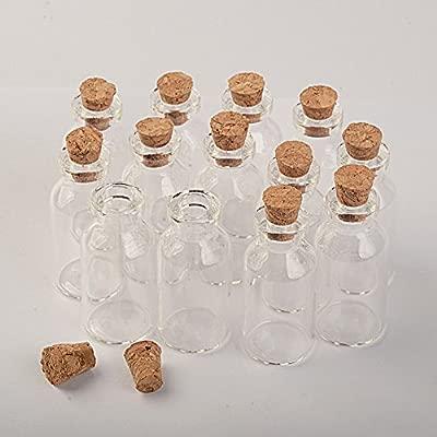 Botella de cristal transparente con tapón de corcho, forma ...
