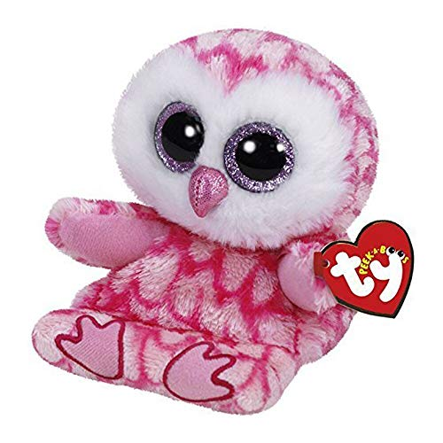 (Ty Beanie Boos - Ty Peek A Boo Milly The Pink Owl Plush Phone Holder With Screen Cleaner Bottom Soft Stuffed Animal - Mini Rainbow Osterich Keychain Sketch Bear Darla Jewel Ultimate Saffire Gre)