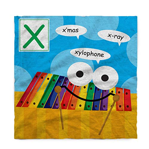 Fantasy Star Rectangle Polyester Tablecloth, Alphabet Letter X Xylophone Tablecloths Machine Washable Table Cover Decorative Table Cloth for Kitchen Dinning Banquet Parties 60 x 60 Inch