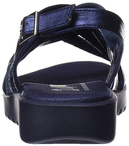 24 HORAS Damen 23669 Peeptoe Sandalen blau (marineblau 5)