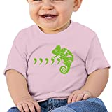Jirushi Infants &Toddlers Baby's Cool Green Chameleon Pink T Shirts For 6-24 Months