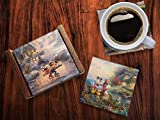 Disney Mickey and Minnie Mouse Glass Coaster