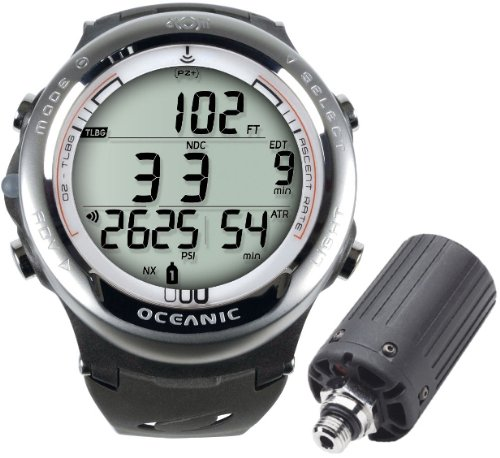 Oceanic Atom 3.1 Scuba Diving Computer with Transmitter-White
